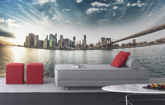 New York Wall Mural By Pixers 650x413